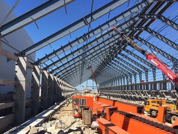 场馆钢结构施工