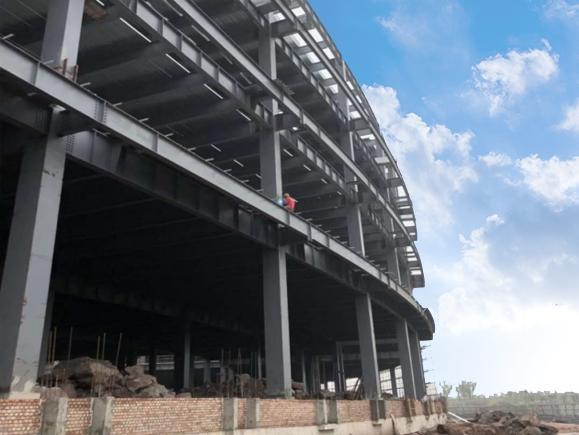 新能源汽车钢结构厂房施工